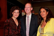 Regine Chassage of Arcade Fire, Dr. Paul Farmer of PIH & Dominique Anglade of Kanpe Foundation
