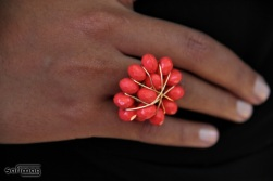 Créations dorées cocktail ring @ Safimag's favorite