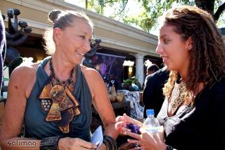 Donna Karan of Urban zen & Sara of Créations dorées connecting @ Invest in Haïti