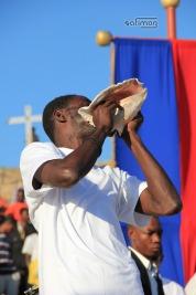 L'Appel du Lambi à la Cérémonie Commémorative du 12 Janvier à Saint-Christophe Ti-Tanyen