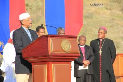 les représentants des secteurs Vodou, Catholique, musulman, protestant, épiscopal et Franc-maçonnerie