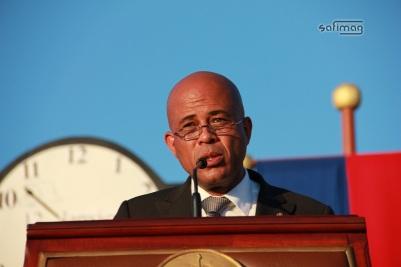 Le Président de la République d'Haïti Michel Joseph Martelly et son discours à la cérémonie de Ti-Tanyenn