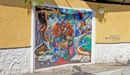 La réalité d'Haïti, Muraille collective d'artistes Haïtiens au Grand Cimetière de Port-au-Prince