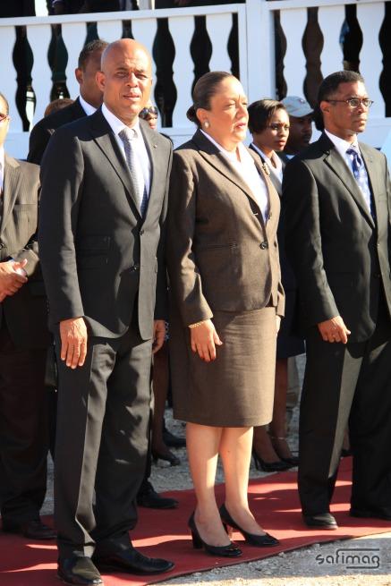 Mr. & Mme. Michel Martelly President de la Republique d'Haiti le 12 Janvier 2O12