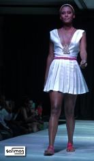 Clara Luce & Créations Dorées Head Band, Necklace, Ring, Belt & DAR Sandals @ Haïti Fashion Week 2OI3