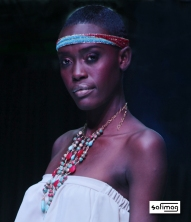 Créations Dorées Beaded Head Band & Stone Necklace @ Haïti Fashion Week