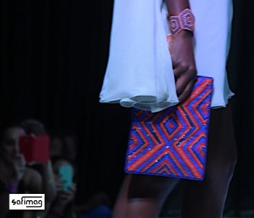Créations Dorées Beaded Clutch & Bracelet @ Haïti Fashion Week