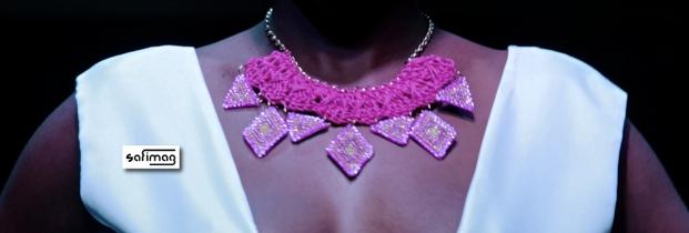 Créations Dorées Crochet & Beaded Necklace @ Haïti Fashion Week
