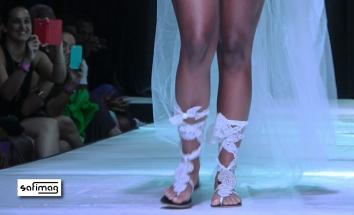 Créations Dorées Bridal Beaded & Lace DAR Sandals@ Haïti Fashion Week