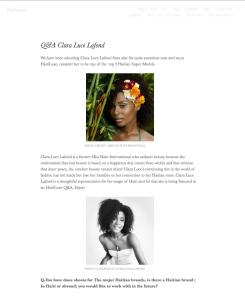 CLARA LUCE - HAITI LUXE 2015