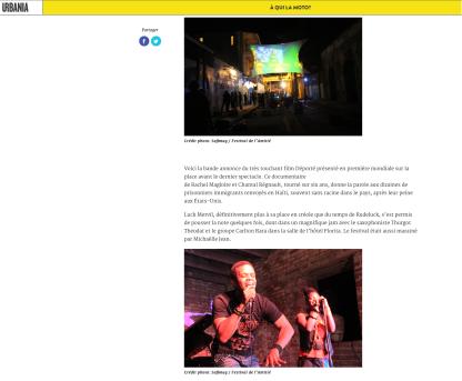 FESTIVAL DE L'AMITIÉ - URBANIA 2012