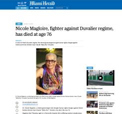 NICOLE MAGLOIRE - MIAMI HERALD 2015