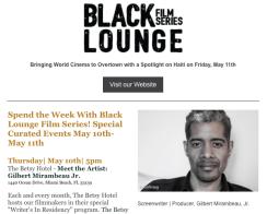 GILBERT MIRAMBEAU & BLACK LOUNGE FILM SERIES 2018