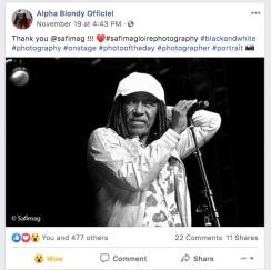 ALPHA BLONDY - FACEBOOK 2019