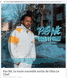 PAS NÉ - OBIA LE CHEF - URBENHITS 2019