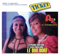 CREATIONS DOREES - TICKET COVER 2013